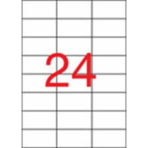 Etikett, lézernyomtatókhoz, 70x37 mm, APLI, 6000 etikett/csomag (LCA2520)