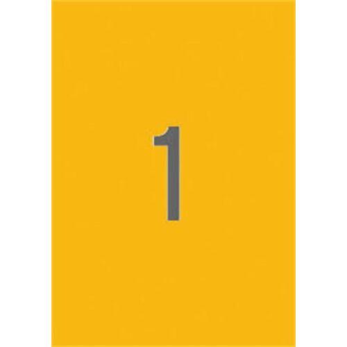Etikett, 210x297 mm, színes, APLI, neon narancs, 20 etikett/csomag (LCA2879)