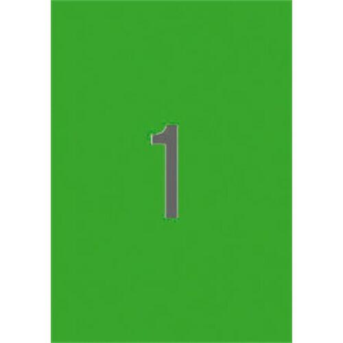 Etikett, 210x297 mm, színes, APLI, neon zöld, 20 etikett/csomag (LCA2881)