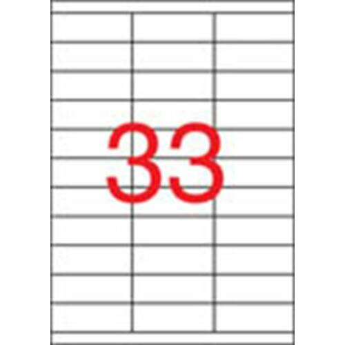Etikett, univerzális, 70x25,4 mm, APLI, 3300 etikett/csomag (LCA3132)