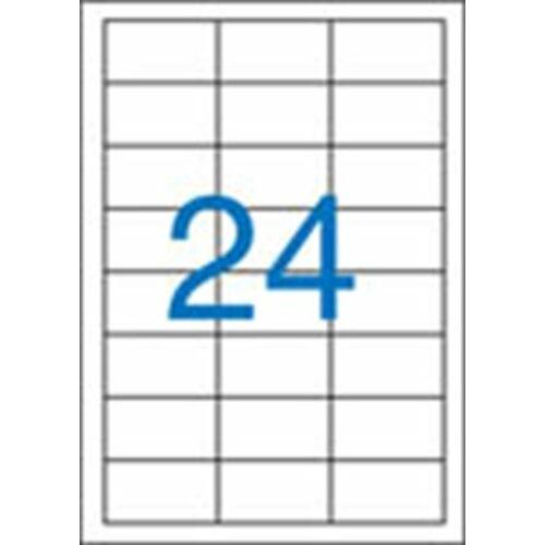 Etikett, univerzális, 64,6x33,8 mm, VICTORIA, 2400 etikett/csomag (LCV11367)