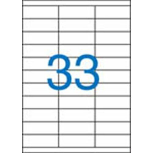 Etikett, univerzális, 70x25,4 mm, VICTORIA, 3300 etikett/csomag (LCV11379)