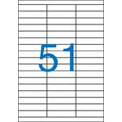Etikett, univerzális, 70x16,9 mm, VICTORIA, 5100 etikett/csomag (LCV11386)