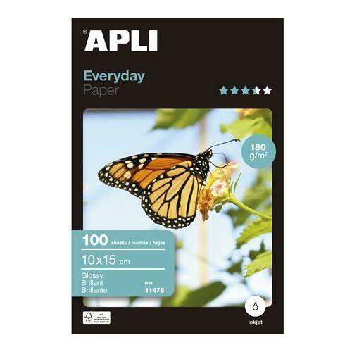 Fotópapír, tintasugaras, 10x15 cm, 180 g, fényes, APLI Everyday (LEAA11476)