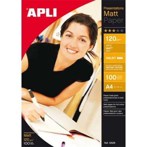 Fotópapír, tintasugaras, dobozos,  A4, 120 g, matt, APLI Presentations (LEAA12626)