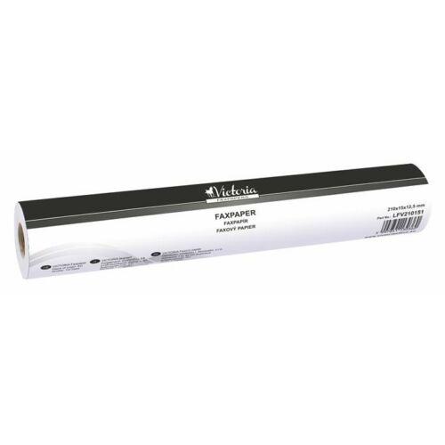 Faxpapír, 210 mm x 15 m x 12,5 mm, VICTORIA (LFV210151)