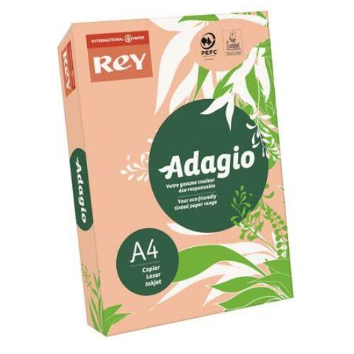 Másolópapír, színes, A4, 80 g, REY Adagio, intenzív barack (LIPAD48IB)