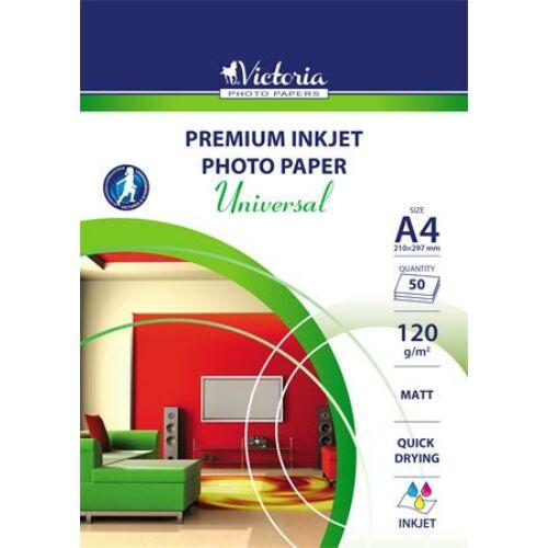 Fotópapír, tintasugaras, A4, 120 g, matt, VICTORIA Universal (LVIM03)