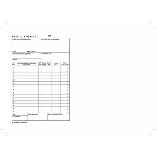 Nyomtatvány, szállítólevél, 50x2, A5, VICTORIA B.10-70, 10 tömb/csomag (NVB1070502A5)