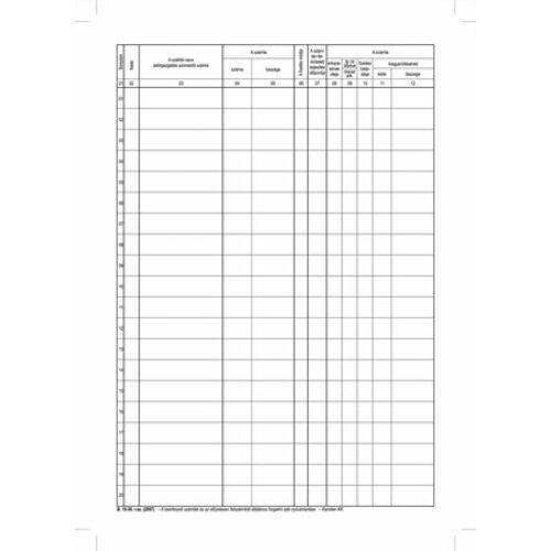 Nyomtatvány, beérkező számla nyilvántartó, 50 lap, A4, VICTORIA, B.15-30, 10 tömb/csomag (NVB1530)