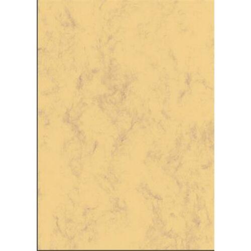 Előnyomott papír, kétoldalas, A4, 200 g, SIGEL, homokbarna, márványos (SDP553)
