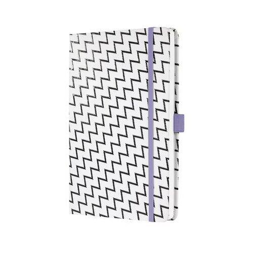 Jegyzetfüzet, exkluzív, 135x203 mm, vonalas, 87 lap, keményfedeles, SIGEL Jolie, White Monochrom (SIJN319)