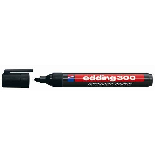 Alkoholos marker, 1,5-3 mm, kúpos, EDDING 300, fekete (TED30011)