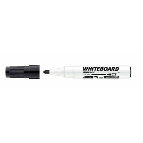 Tábla- és flipchart marker, 1-3 mm, kúpos, ICO Plan, fekete (TICPLFK)