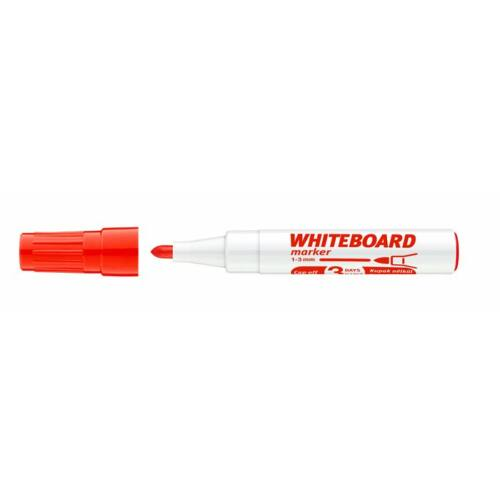 Tábla- és flipchart marker, 1-3 mm, kúpos, ICO Plan, piros (TICPLP)