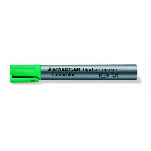 Flipchart marker, 2 mm, kúpos, STAEDTLER Lumocolor 356, zöld (TS3565)