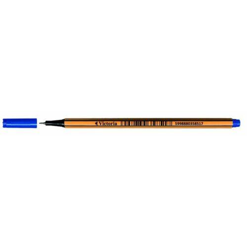 Tűfilc, 0,4 mm, VICTORIA,Slim, kék (TVITK)