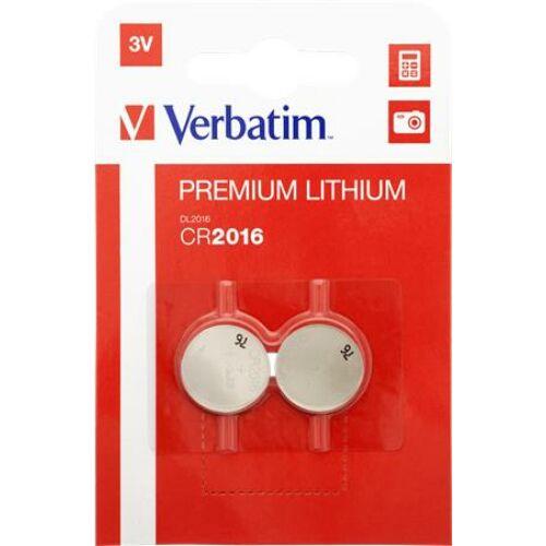 Gombelem, CR2016, 2 db, VERBATIM Premium (VECR20162)